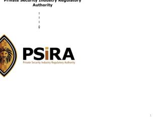 ANNUAL REPORT 2009/2010 PRIVATE SECURITY INDUSTRY REGULATORY AUTHORITY