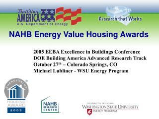 NAHB Energy Value Housing Awards