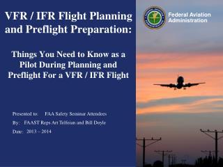 FAA Safety Seminar Attendees