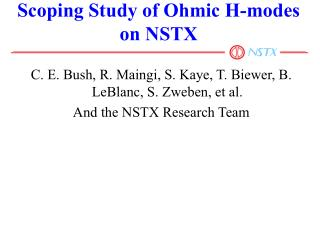 Scoping Study of Ohmic H-modes on NSTX