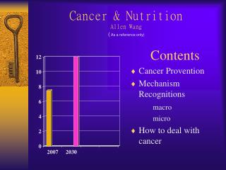 Cancer & Nutrition Allen Wang ( As a reference only)