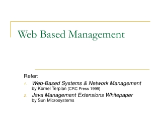 Web-based Network and Systems Management