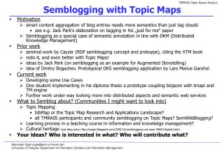 Semblogging with Topic Maps