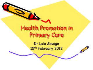 Health Promotion in Primary Care