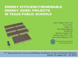 ENERGY EFFICIENCY/RENEWABLE ENERGY (EERE) PROJECTS IN TEXAS PUBLIC SCHOOLS