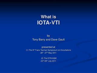 What is IOTA-VTI