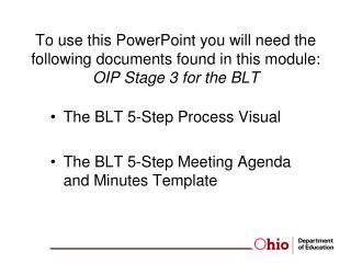 The BLT 5-Step Process Visual The BLT 5-Step Meeting Agenda and Minutes Template