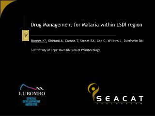 Drug Management for Malaria within LSDI region