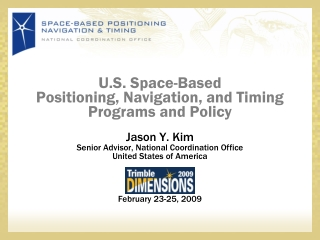 U.S. Space-Based Positioning, Navigation, and Timing Programs and Policy