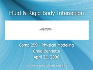 Fluid & Rigid Body Interaction
