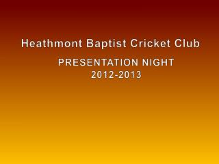 Heathmont  Baptist Cricket Club
