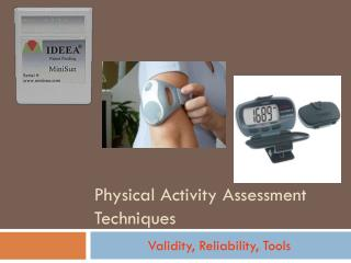 Physical Activity Assessment Techniques