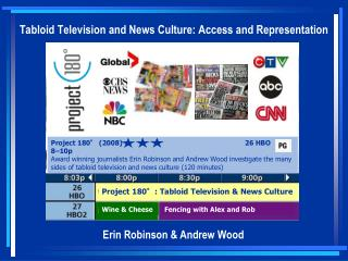 Tabloid Television and News Culture: Access and Representation