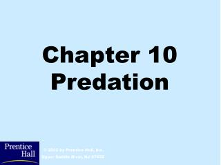 Chapter 10 Predation