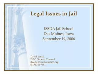 Legal Issues in Jail