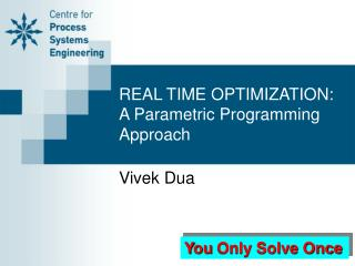 REAL TIME OPTIMIZATION: A Parametric Programming Approach