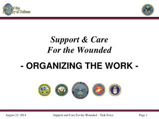 Support & Care  For the Wounded - ORGANIZING THE WORK -