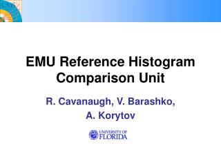 EMU Reference Histogram Comparison Unit