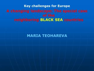 Key challenges for Europe