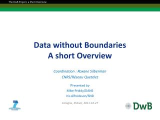 Data without Boundaries A short Overview