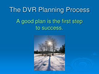 The DVR Planning Process