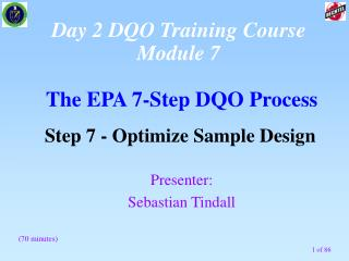 The EPA 7-Step DQO Process