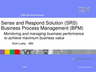 Noel Luddy, - IBM
