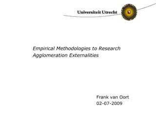Empirical Methodologies to Research Agglomeration Externalities