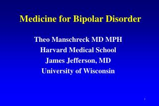 Medicine for Bipolar Disorder