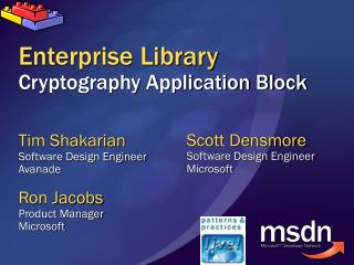Enterprise Library Cryptography Application Block