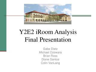 Y2E2 iRoom Analysis Final Presentation