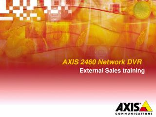 AXIS 2460 Network DVR