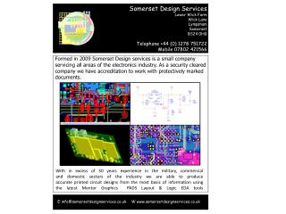 E:info@somersetdesignservices.co.uk    W somersetdesignservices.co.uk