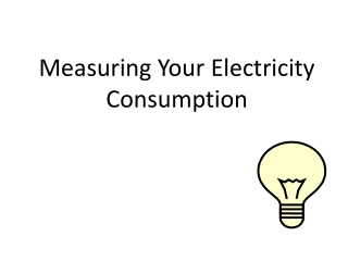 Measuring Your Electricity Consumption