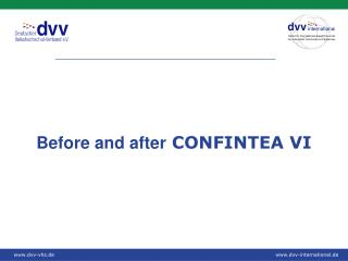 Before and after  CONFINTEA VI