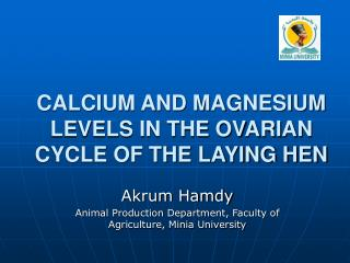 CALCIUM AND MAGNESIUM LEVELS IN THE OVARIAN CYCLE OF THE LAYING HEN