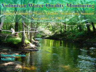 Volunteer Water Quality Monitoring