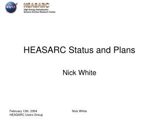 HEASARC Status and Plans