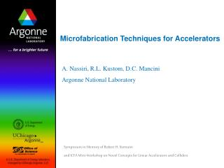 Microfabrication Techniques for Accelerators