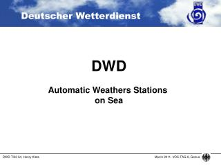 DWD Automatic Weathers Stations  on Sea