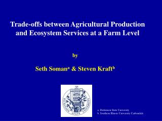 Trade-offs between Agricultural Production and Ecosystem Services at a Farm Level