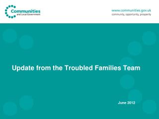 Update from the Troubled Families Team