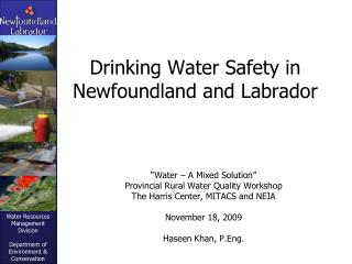 Drinking Water Safety in Newfoundland and Labrador