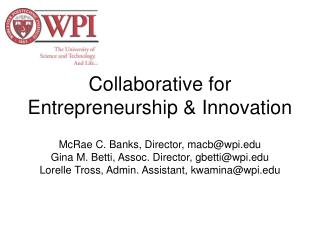 Collaborative for Entrepreneurship & Innovation