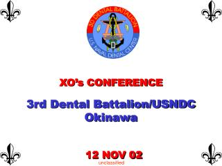 XO's CONFERENCE  3rd Dental Battalion/USNDC Okinawa