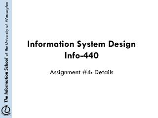 Information System Design Info-440