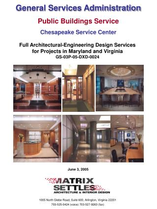General Services Administration Public Buildings Service Chesapeake Service Center