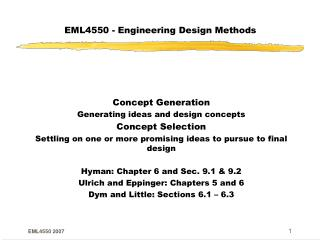 EML4550 - Engineering Design Methods