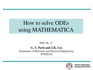 How to solve ODEs  using MATHEMATICA