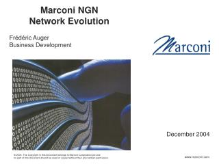 Marconi NGN Network Evolution